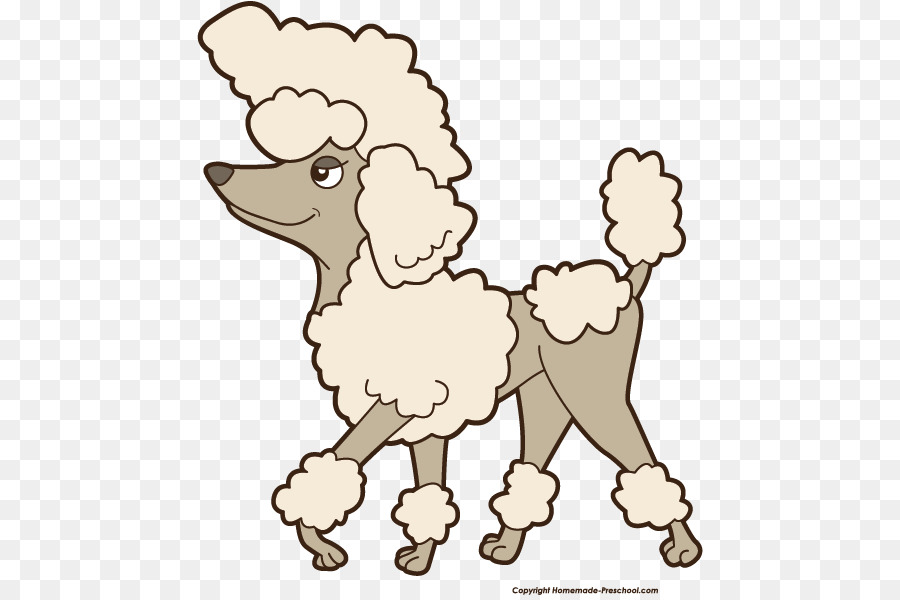 Cartoon poodle clipart picture freeuse Sheep Cartoon clipart - Puppy, Illustration, White, transparent clip art picture freeuse