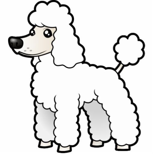 Cartoon poodle clipart image freeuse download Cartoon Standard/Miniature/Toy Poodle (puppy cut) Photo Sculpture ... image freeuse download