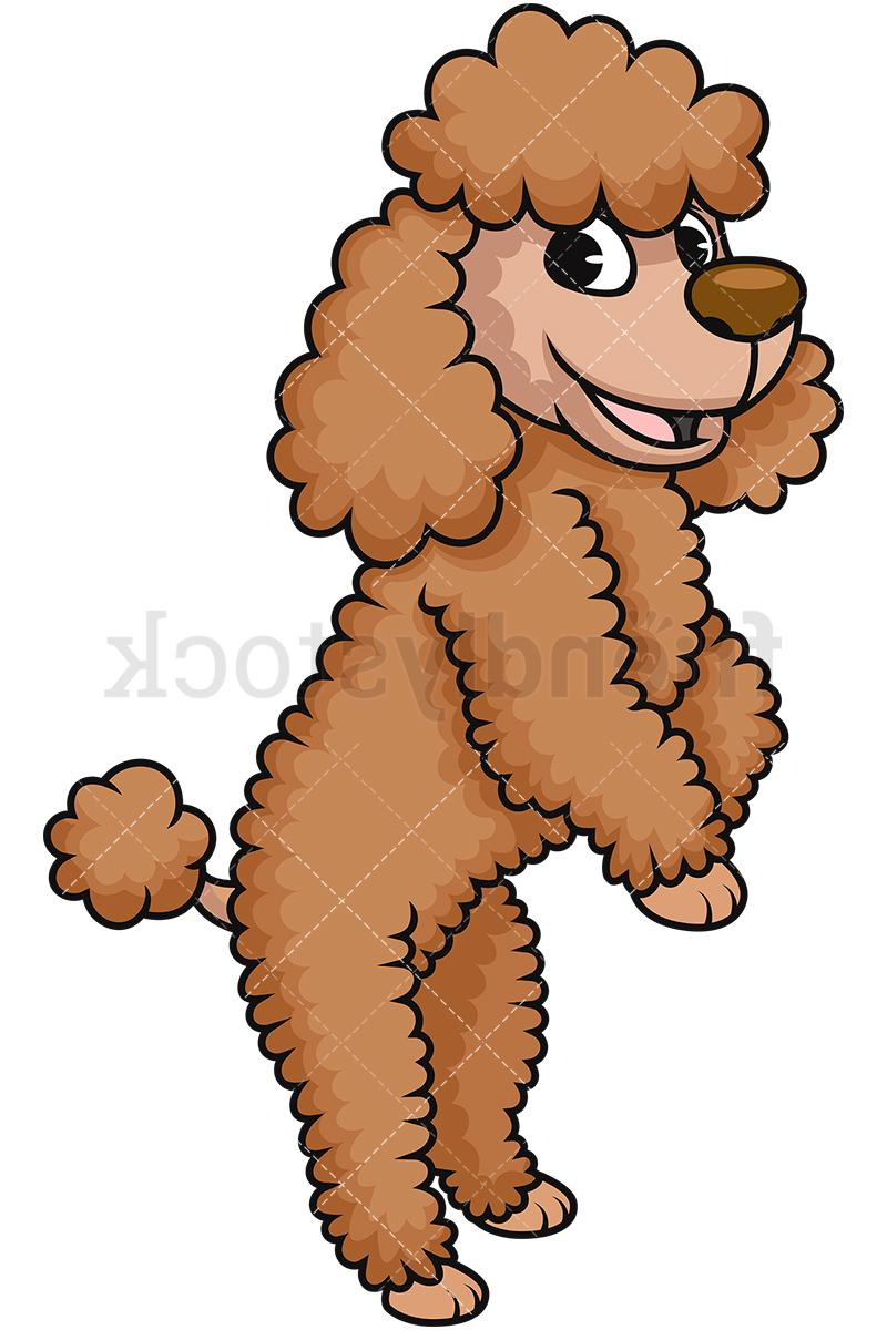 Unique Cartoon Poodle Clip Art Design ~ Vector Images Design clip library stock