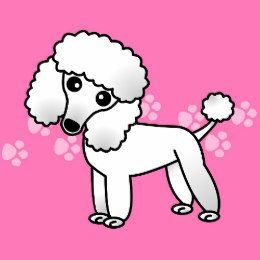 Cute White Poodle Cartoon Card | WHITE POODLE Clipart | Poodle ... clip library library