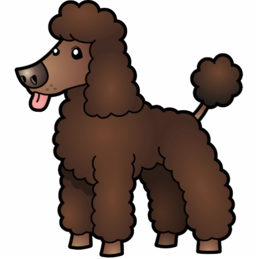 Cartoon poodle clipart image 3 - ClipartAndScrap vector black and white download