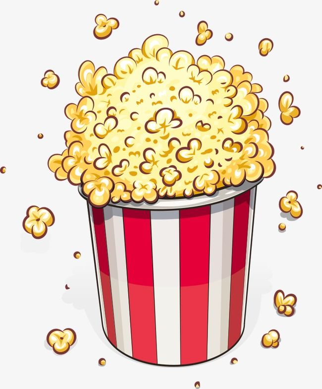 Cartoon popcorn clipart svg black and white Vector Popcorn, Popcorn, Cartoon Popcorn, Food PNG Transparent ... svg black and white