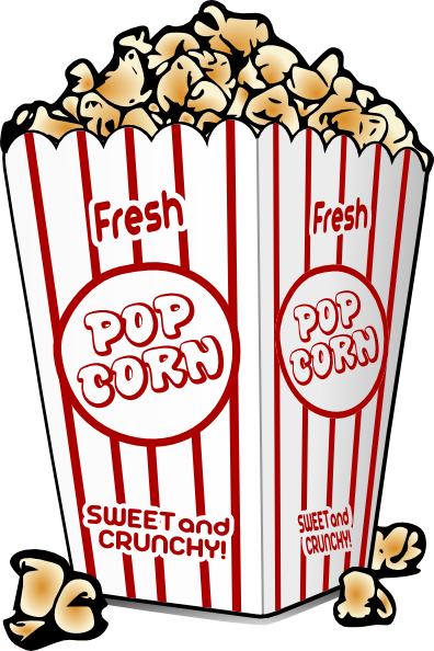 Cartoon graphics fair food. Free popcorn clipart