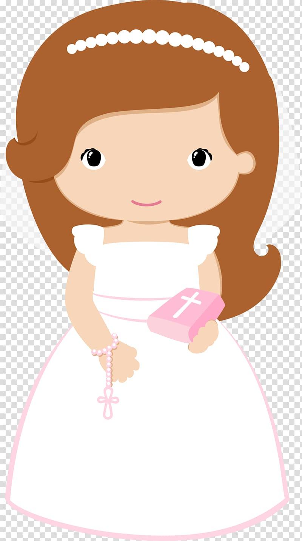 Bride holding bible , First Communion Baptism Eucharist ... svg transparent stock