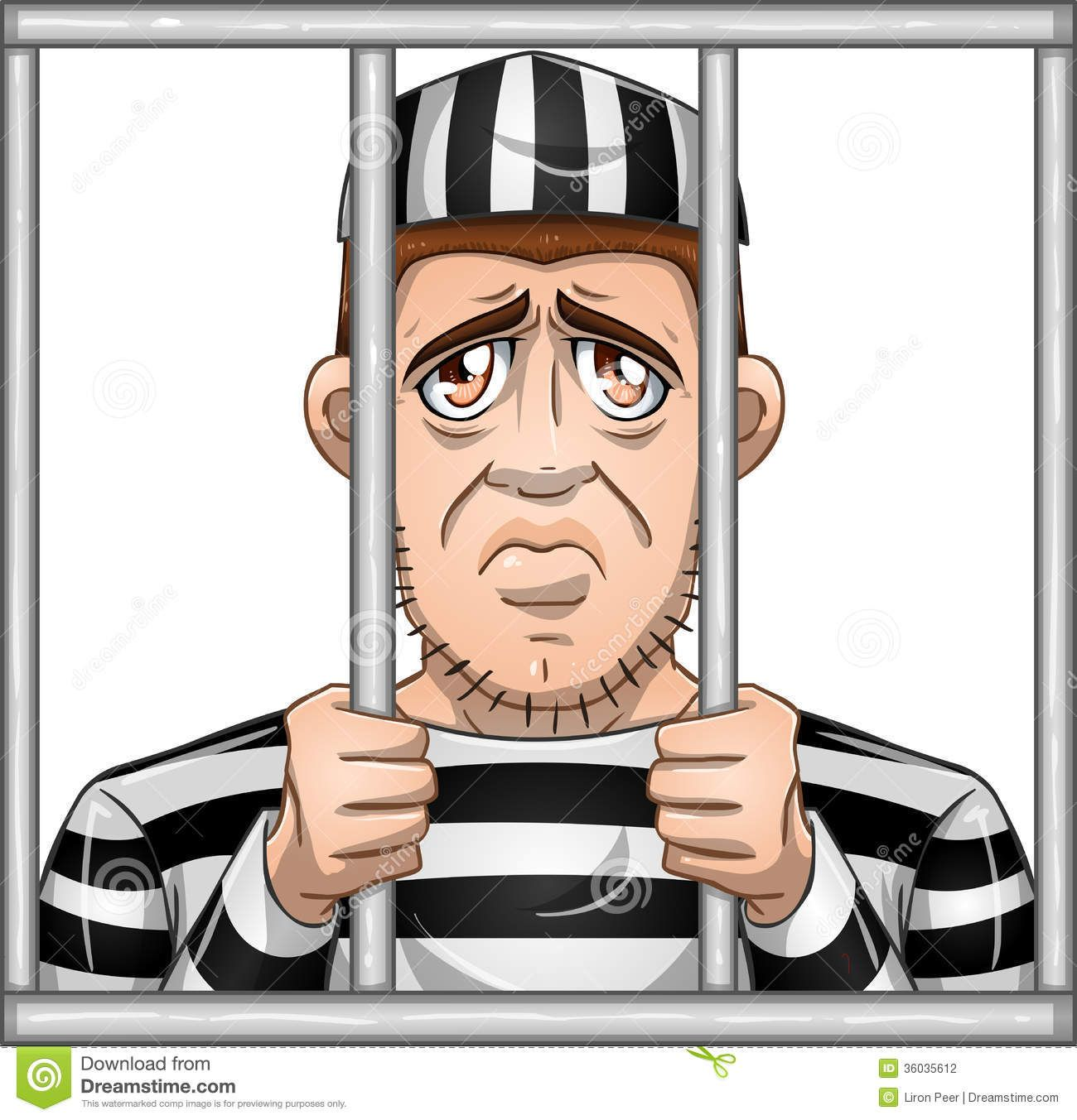 Cartoon prisoner clipart png freeuse stock Jail Cartoon Clip Art | Sad Prisoner Behind Bars Stock Photography ... png freeuse stock