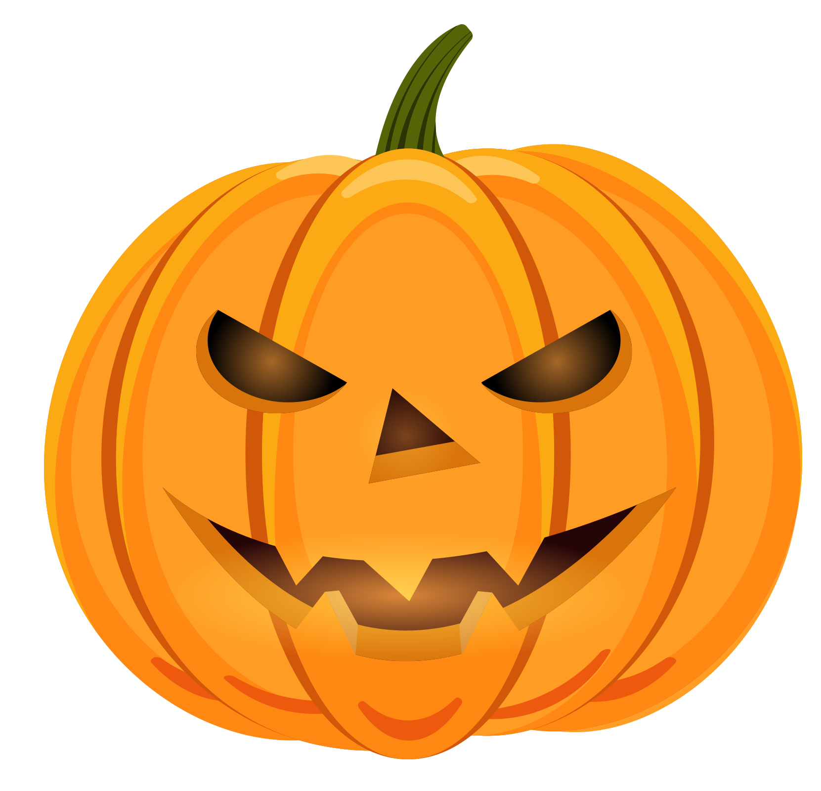 Free pumpkin face clipart image library download Calabaza Halloween Pumpkin Face - Cartoon smiling face pumpkin 1661 ... image library download