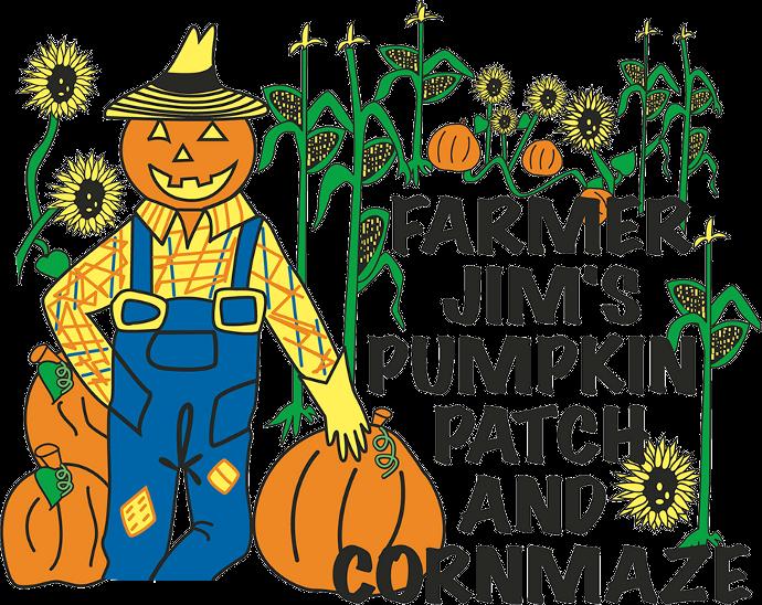 Cartoon pumpkin patch clipart graphic transparent Farmer Jim's Pumpkin Patch graphic transparent
