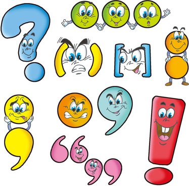 Cartoon punctuation clipart png royalty free library Collection of Punctuation clipart | Free download best Punctuation ... png royalty free library
