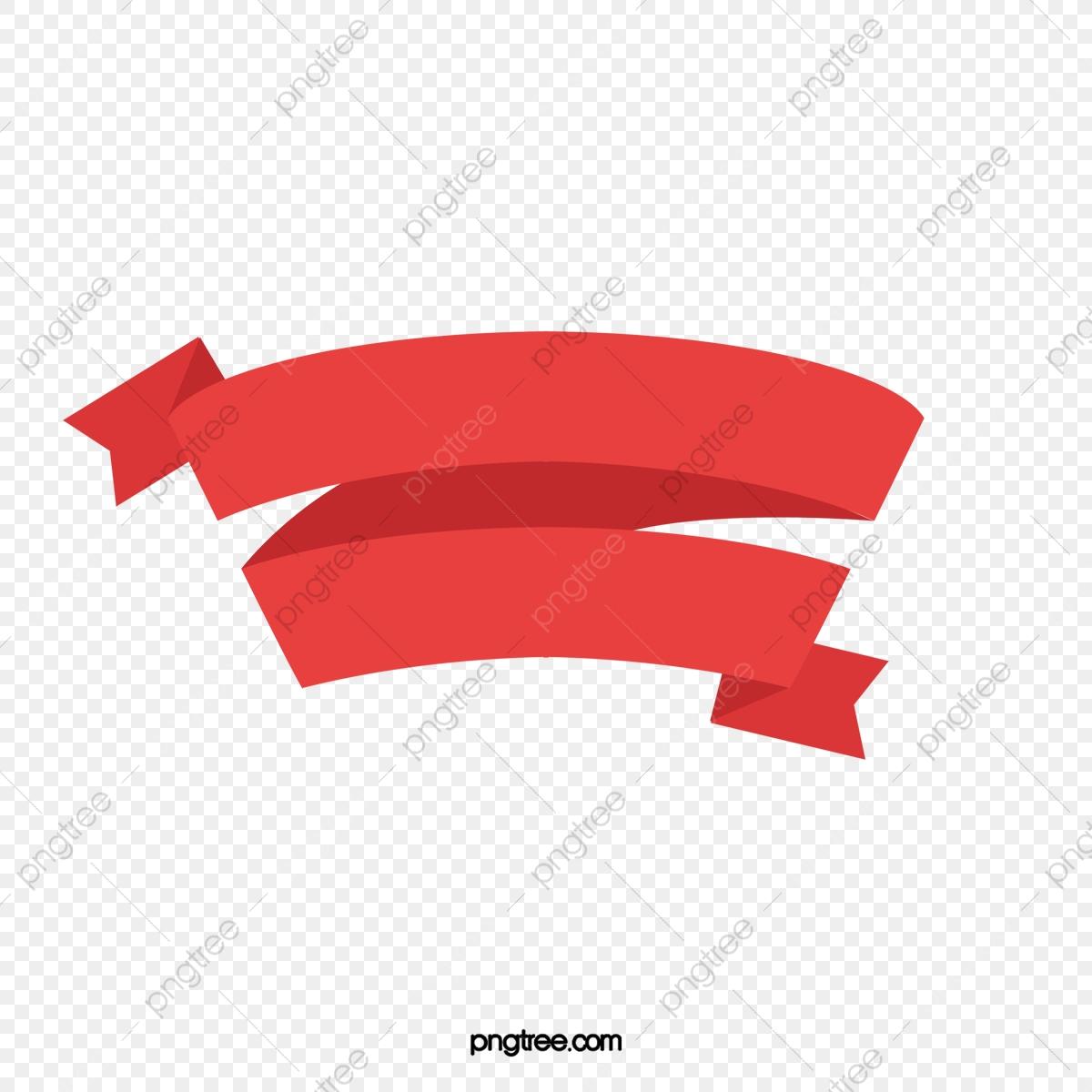 Cartoon Red Ribbon Png Material Frame, Cartoon Clipart, Ribbon ... vector stock