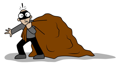 Cartoon robber clipart image download Drawing a cartoon robber image download