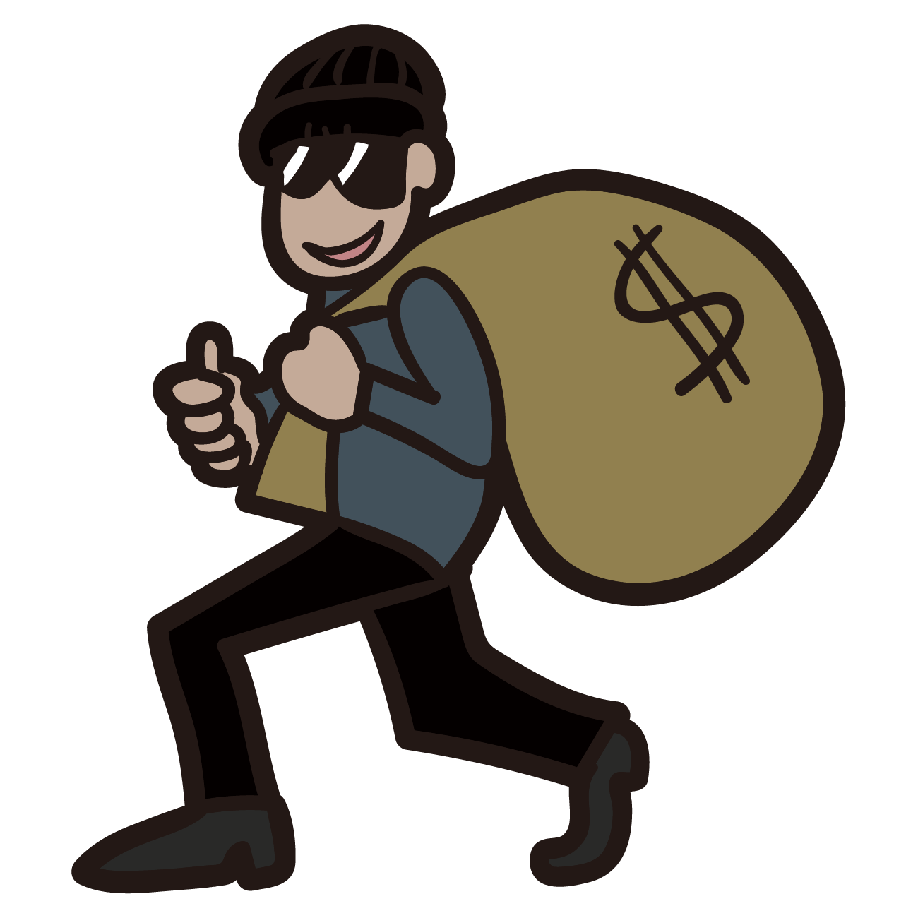 Cartoon robber clipart png royalty free download Clip art - thief 1300*1300 transprent Png Free Download - Cartoon ... png royalty free download