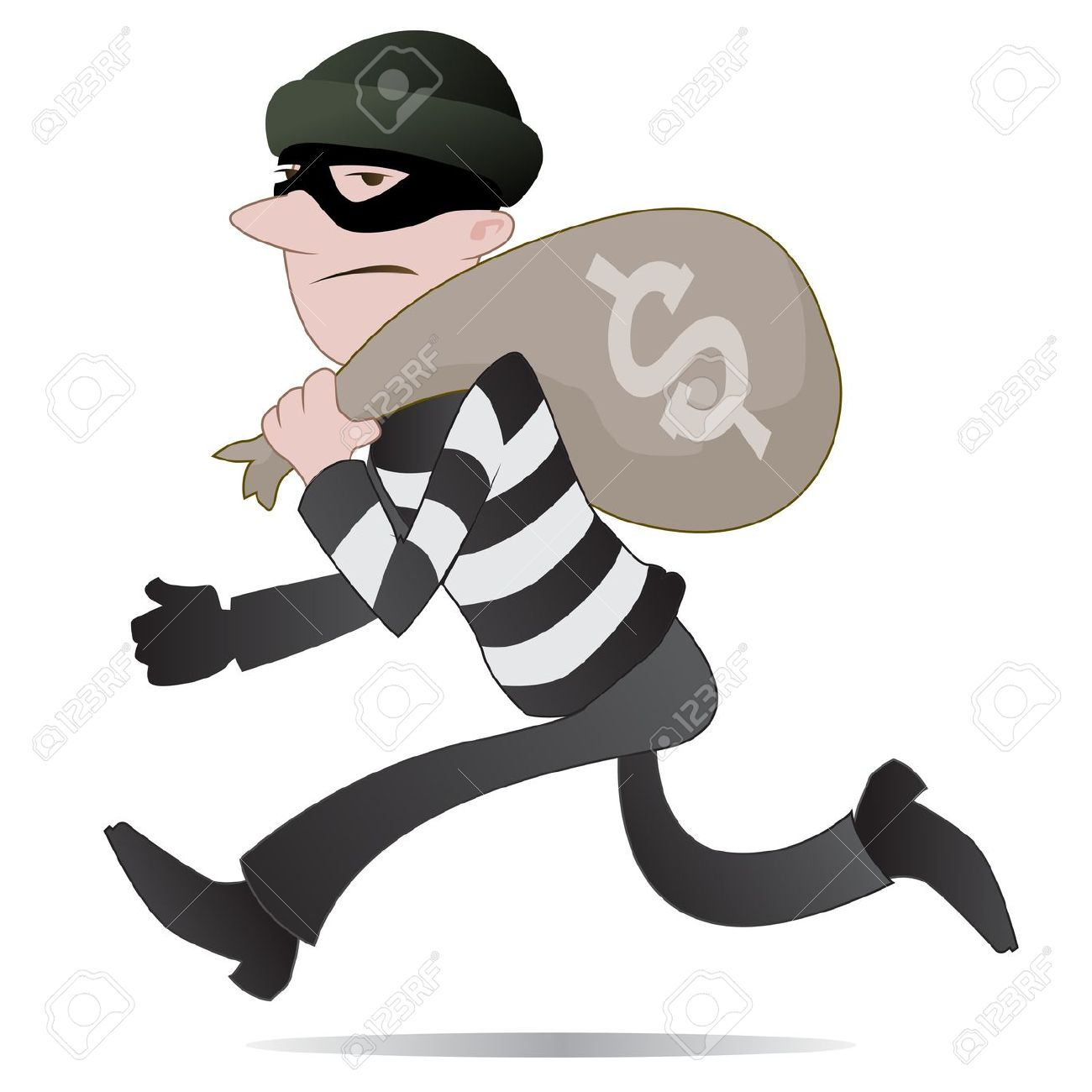 Cartoon robber clipart black and white download Robber Clipart & Robber Clip Art Images - ClipartALL.com black and white download