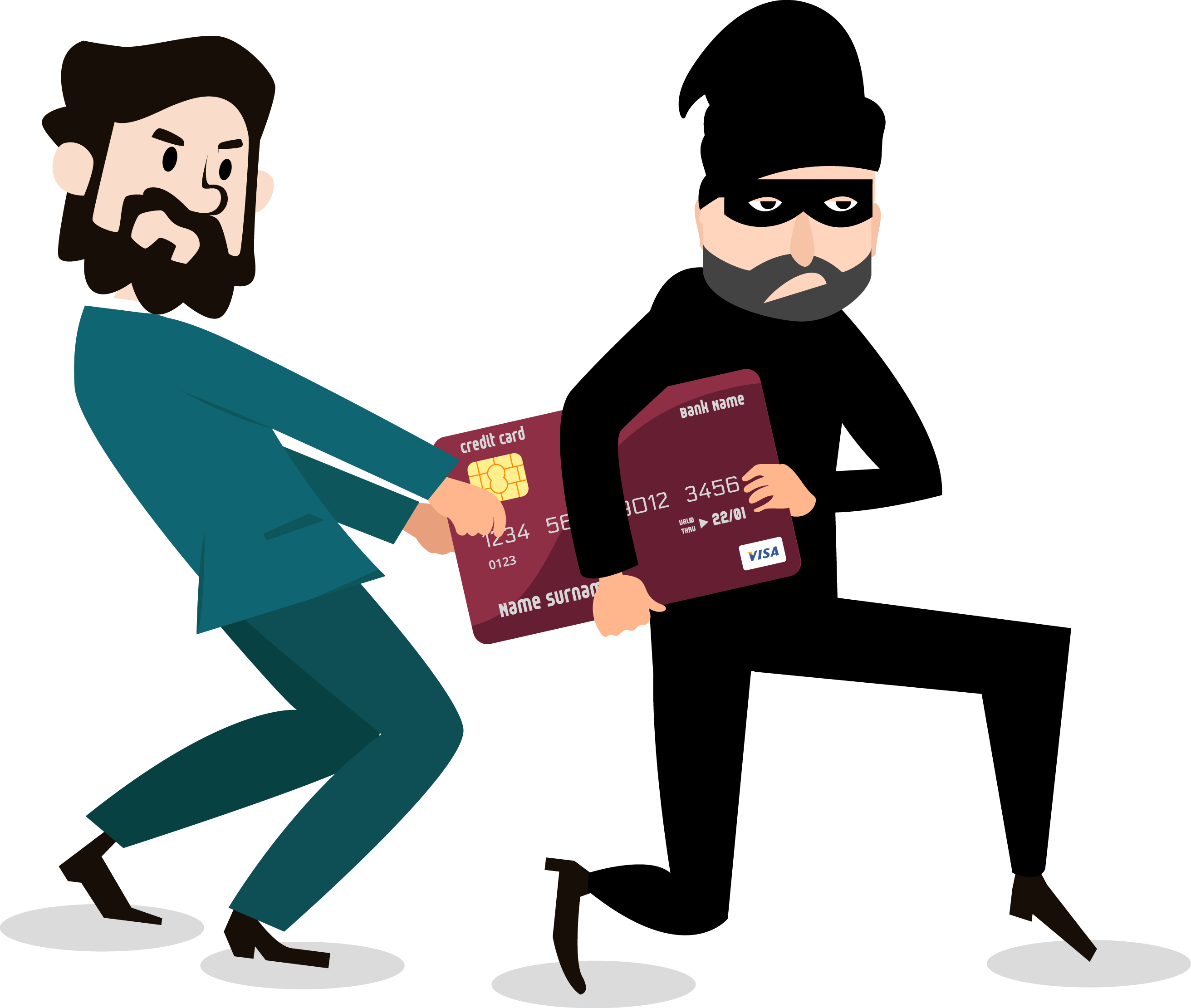 Cartoon robber clipart picture free library Cartoon Robbery Graphic design - Thieves rob the bank card 2625*2222 ... picture free library