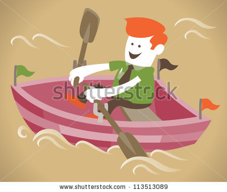 Cartoon Rowing Boat Stock Photos, Royalty-Free Images & Vectors ... jpg freeuse library