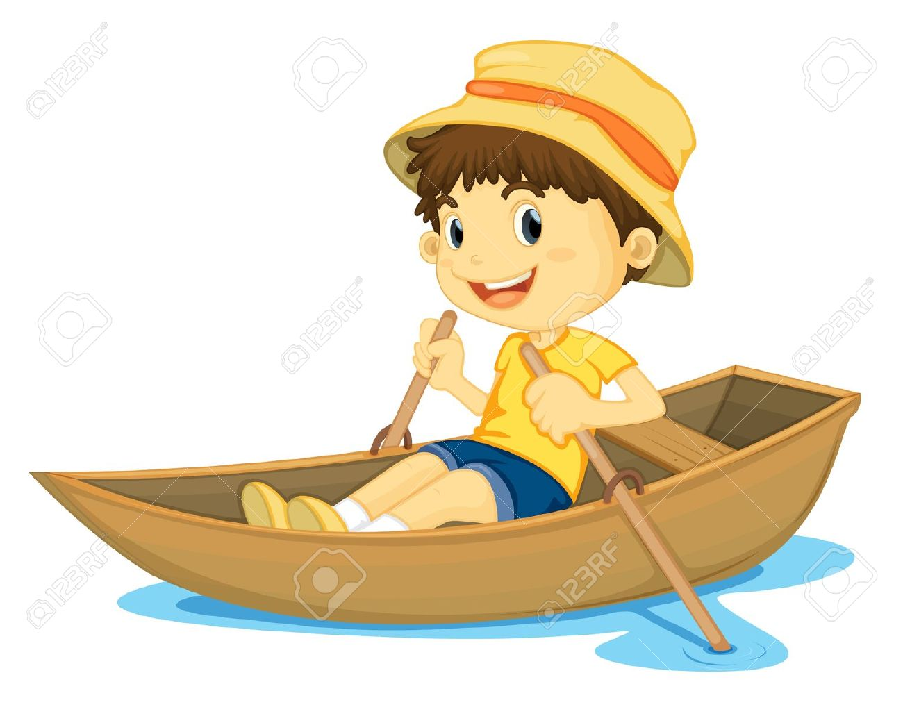 Cartoon row boat clipart - ClipartFest vector library download