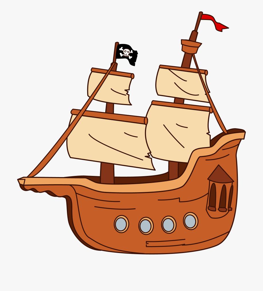 Cartoon sailing ship clipart clipart transparent Download - Pirate Ship Clipart , Transparent Cartoon, Free Cliparts ... clipart transparent