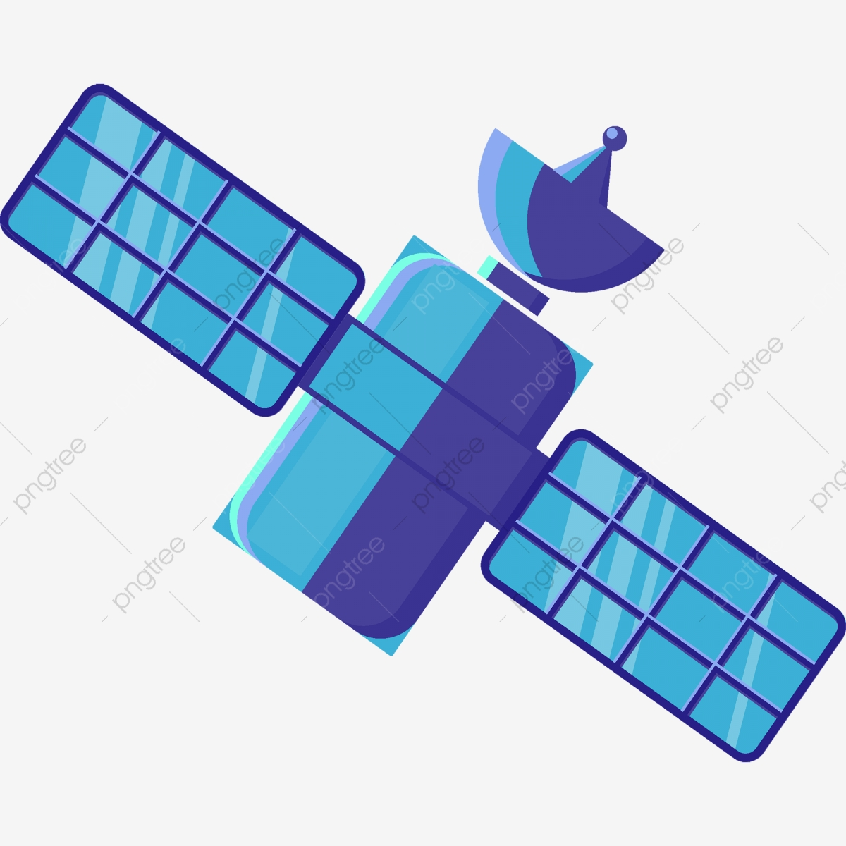 Cartoon Blue Satellite Element, Satellite, Technology, Blue PNG and ... picture freeuse library