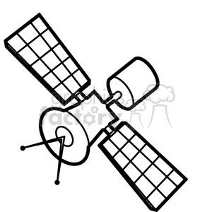 Cartoon satellite clipart