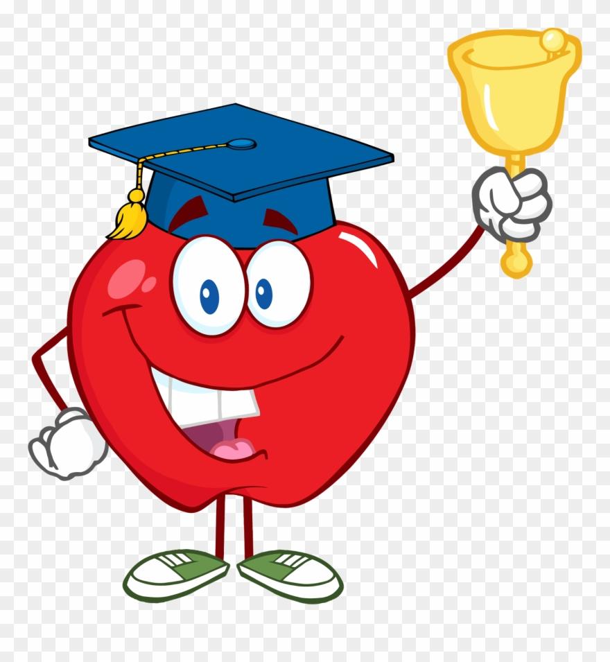 Cartoon school bell clipart vector royalty free Teacher Classroom Attendance Clipart - School Bell Clip Art - Png ... vector royalty free