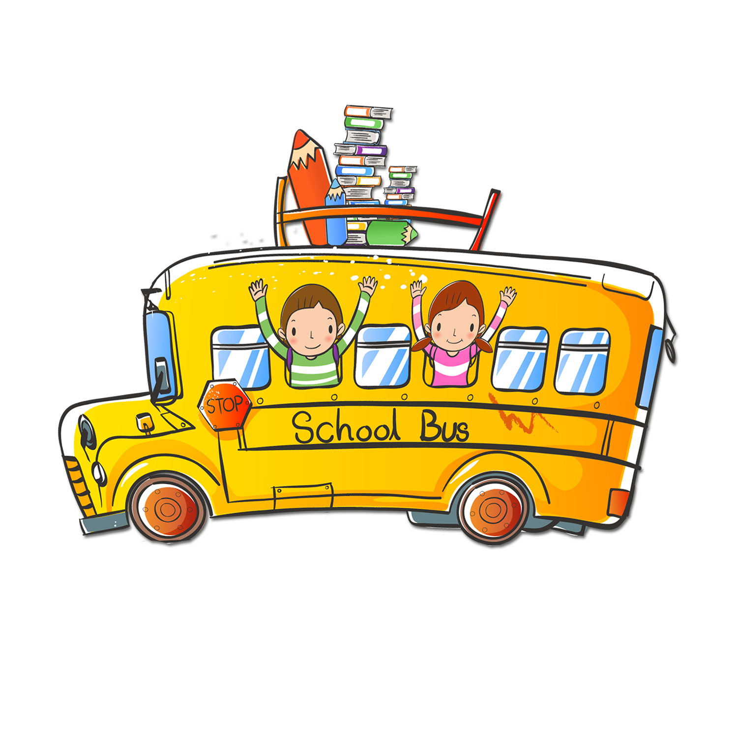 Cartoon school bus clipart picture library School bus - Cartoon school bus 1501*1500 transprent Png Free ... picture library