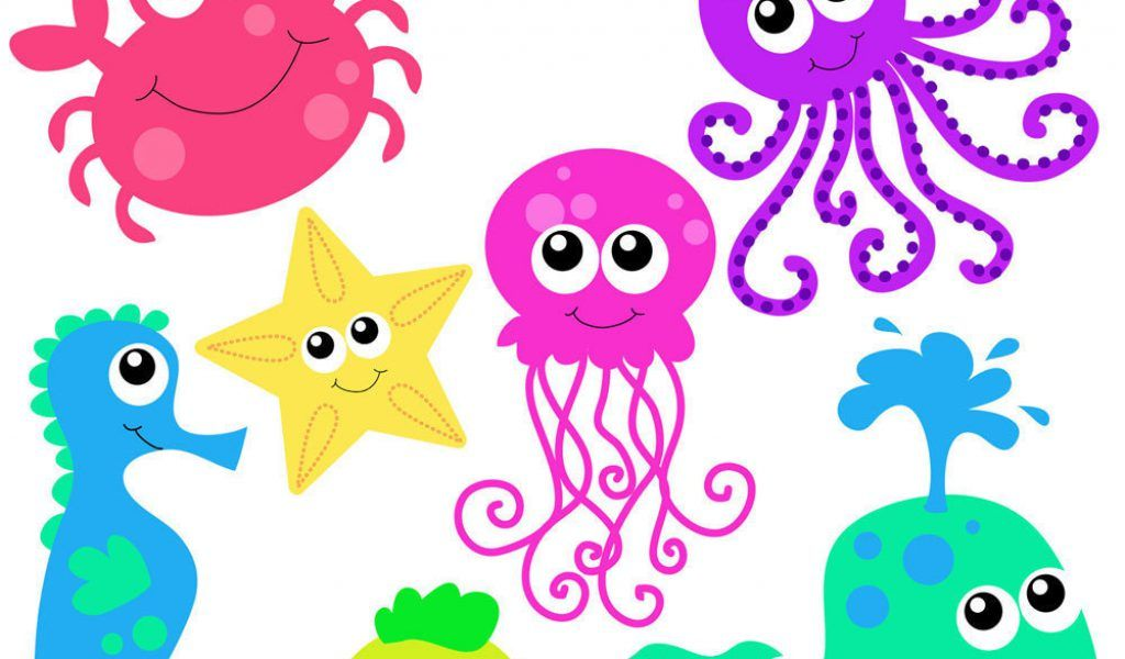 Cartoon sea creatures clipart image freeuse stock Cute Under the Sea Clip Art | Sea Creatures Clipart & Sea Creatures ... image freeuse stock