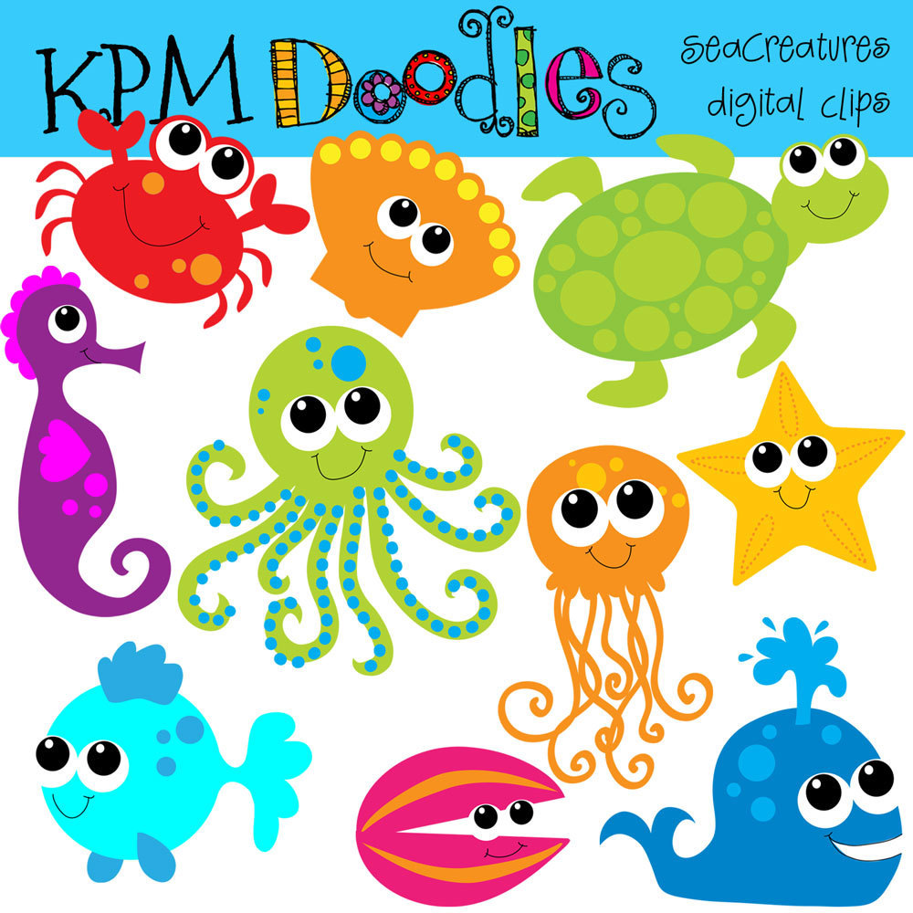 Cartoon sea creatures clipart graphic transparent library Free Cliparts Sea Creatures, Download Free Clip Art, Free Clip Art ... graphic transparent library
