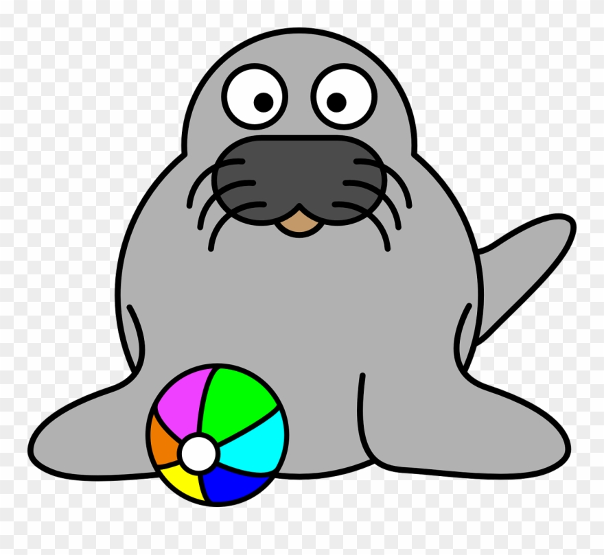 Cartoon seal clipart royalty free library Seal Clip Art - Cartoon Clipart Seal - Png Download (#203172 ... royalty free library