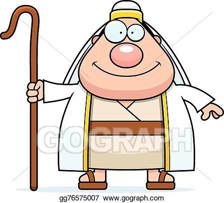 Cartoon shepherd clipart clip art free Vector Stock - Happy cartoon shepherd. Clipart Illustration ... clip art free