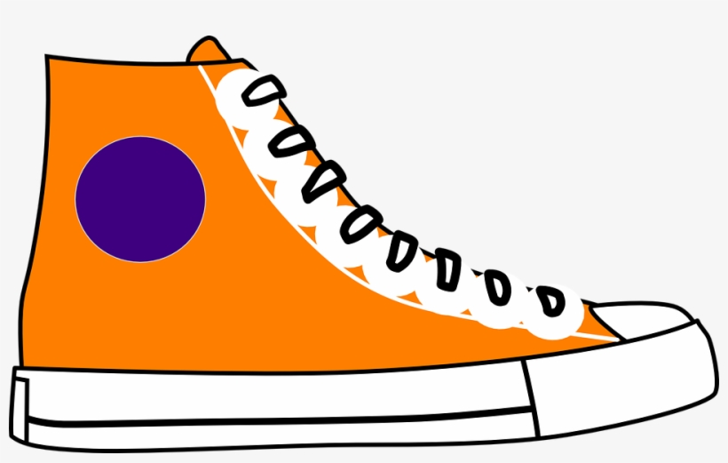 Cartoon shoe clipart svg royalty free library Clipart Nike Running Shoes Cartoon Jordan Shoe Pencil - Orange ... svg royalty free library