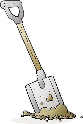 Cartoon Shovel IN Dirt premium clipart - ClipartLogo.com clipart black and white library