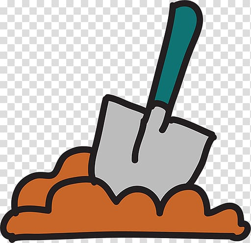 Shovel Digging Icon, Cartoon shovel transparent background PNG ... vector black and white download