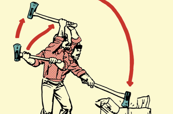 Cartoon sledgehammer hitting block of wood clipart banner transparent stock How to Split Firewood (and Stack and Store It) | The Art of Manliness banner transparent stock