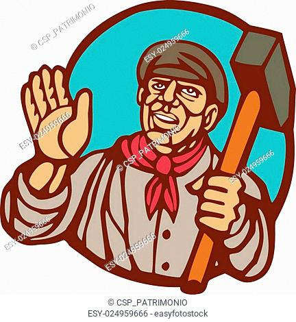 Cartoon sledgehammer hitting block of wood clipart banner royalty free download Hammer wood block Stock Photos and Images | age fotostock banner royalty free download