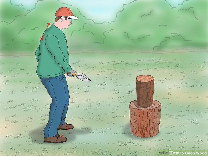 Cartoon sledgehammer hitting block of wood clipart clip art free stock 3 Ways to Chop Wood - wikiHow clip art free stock