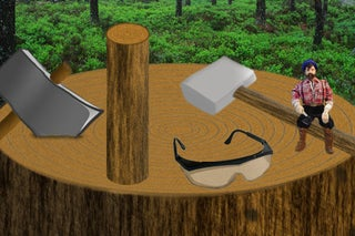 Cartoon sledgehammer hitting block of wood clipart graphic download How to Split Logs: 5 Steps graphic download