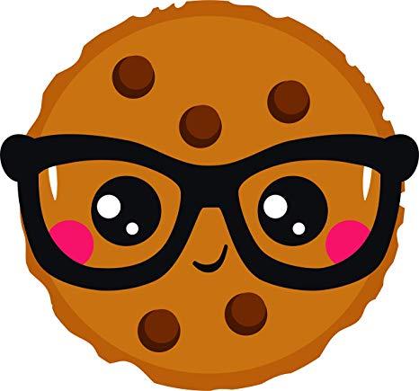 Cartoon smart cookie clipart clip art black and white Amazon.com: Smart Cookie Cute Kawaii Nerd Smiling Funny Pun Cute ... clip art black and white