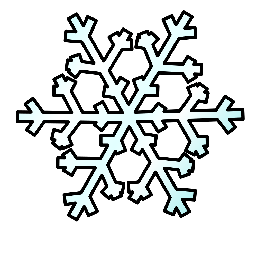 Pointed snowflake clipart transparent background clipart black and white Snowflake Clipart - Free Clip Art - Clipart Bay clipart black and white