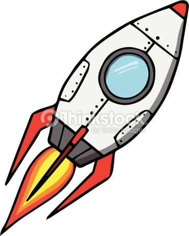 Cartoon spaceship clipart picture freeuse Space rocket. Cartoon vector illustration | reflections in 2019 ... picture freeuse