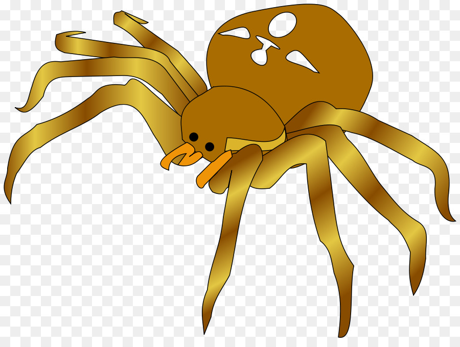 Cartoon spider clipart picture royalty free library Cartoon Spider clipart - Yellow, Cartoon, Graphics, transparent clip art picture royalty free library