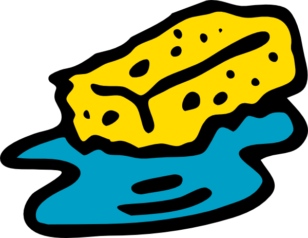 Cartoon sponge clipart
