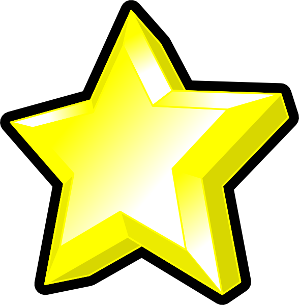 Cartoon star clipart picture library stock 3d Star Clip Art at Clker.com - vector clip art online, royalty free ... picture library stock