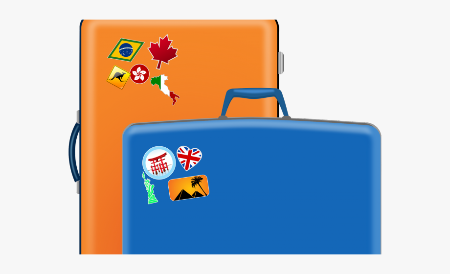 Cartoon suitcase clipart