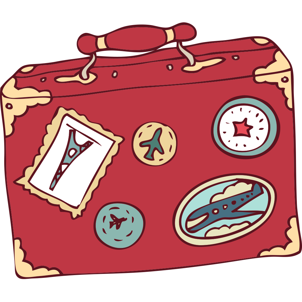 Download Travel Animation Cartoon Suitcase Free Download PNG HD ... clip royalty free stock