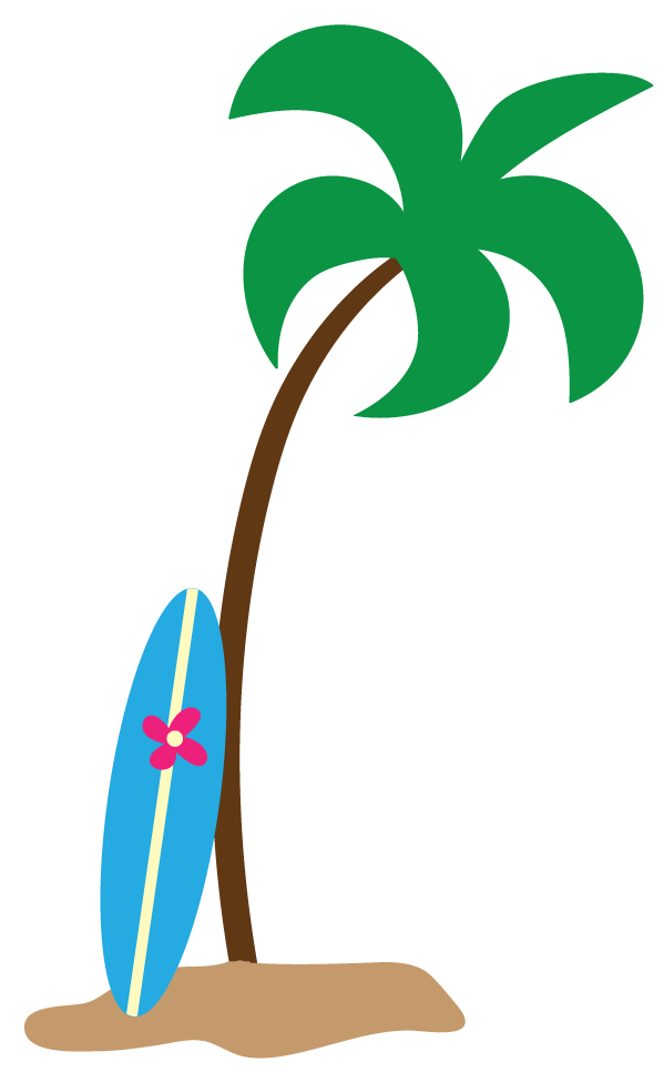 Clipart palm tree clip Cartoon Surfboard | Free Download Clip Art | Free Clip Art | on ... clip