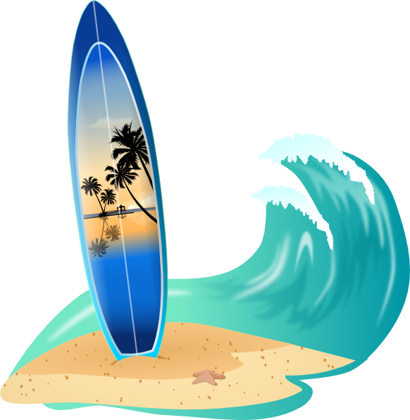 Clip art surfboard clipart transparent library Cartoon Surfboard Clipart - Clipart Kid clipart transparent library