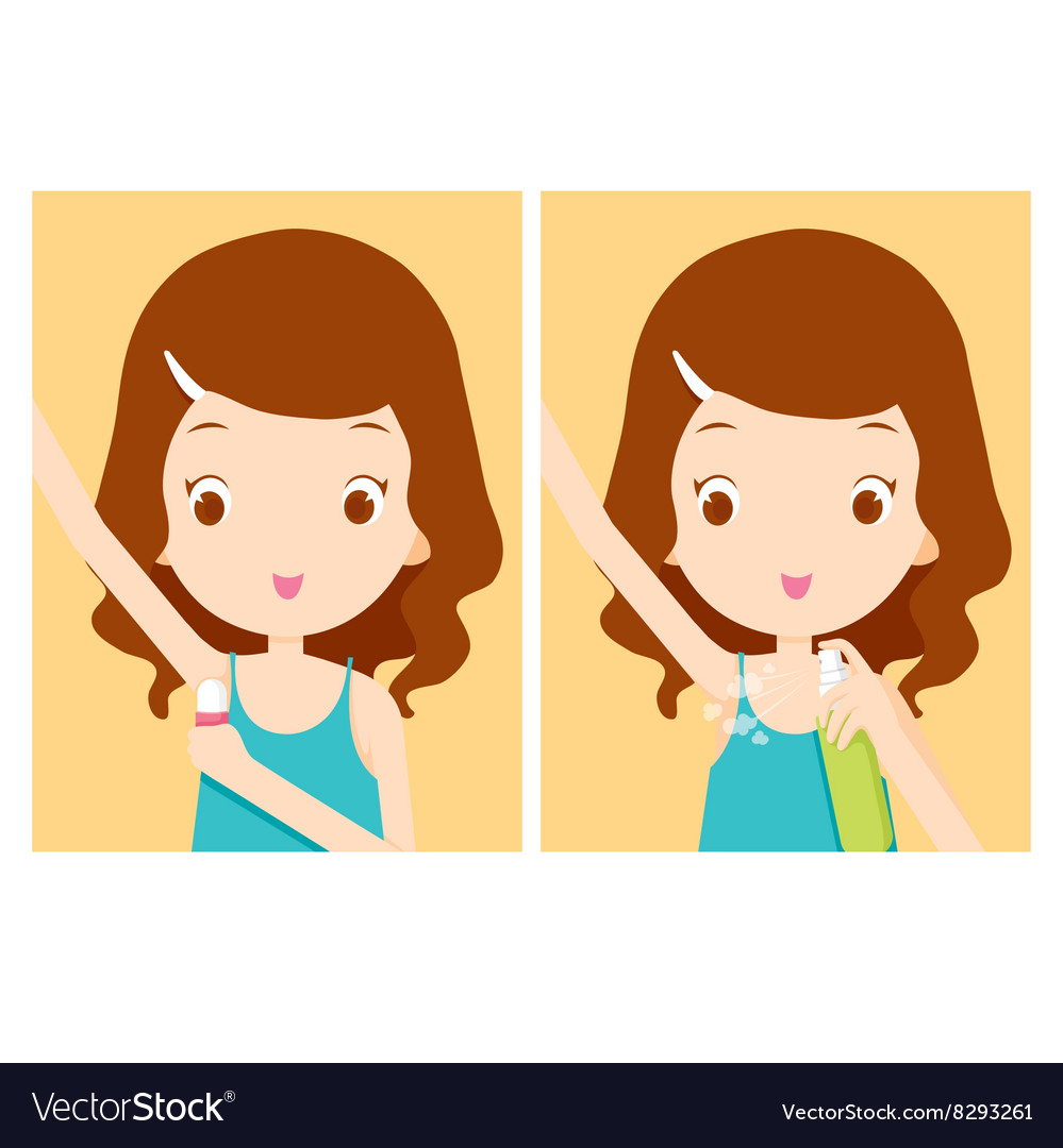 Cartoon sweaty face and armpits from workout clipart png royalty free Girl cares armpit with deodorant png royalty free