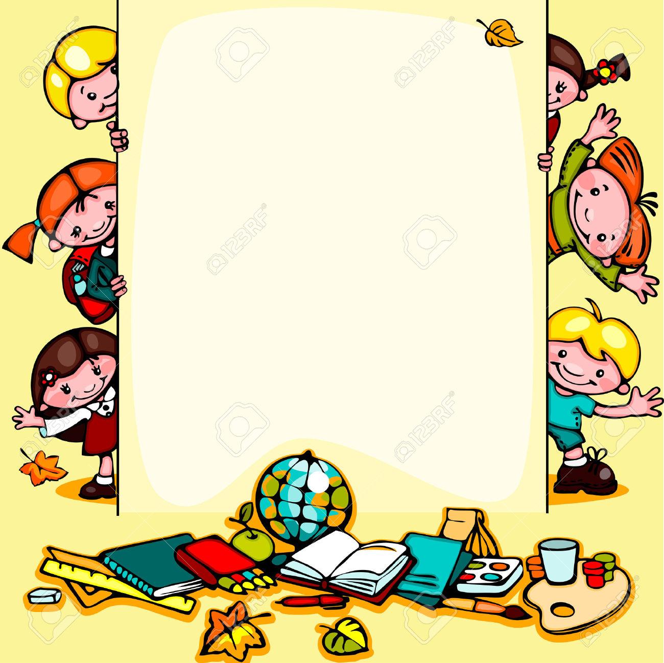 Cartoon teacher border clipart clip transparent library Education Border Cliparts | Free download best Education Border ... clip transparent library