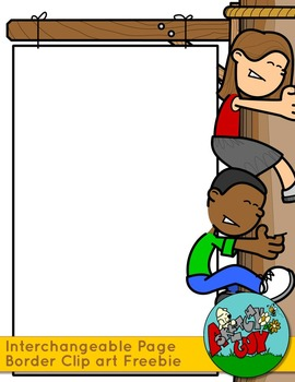 Cartoon teacher border clipart clipart free download Teacher / Student / Person Page Sign Borders - Interchangeable Clip art clipart free download