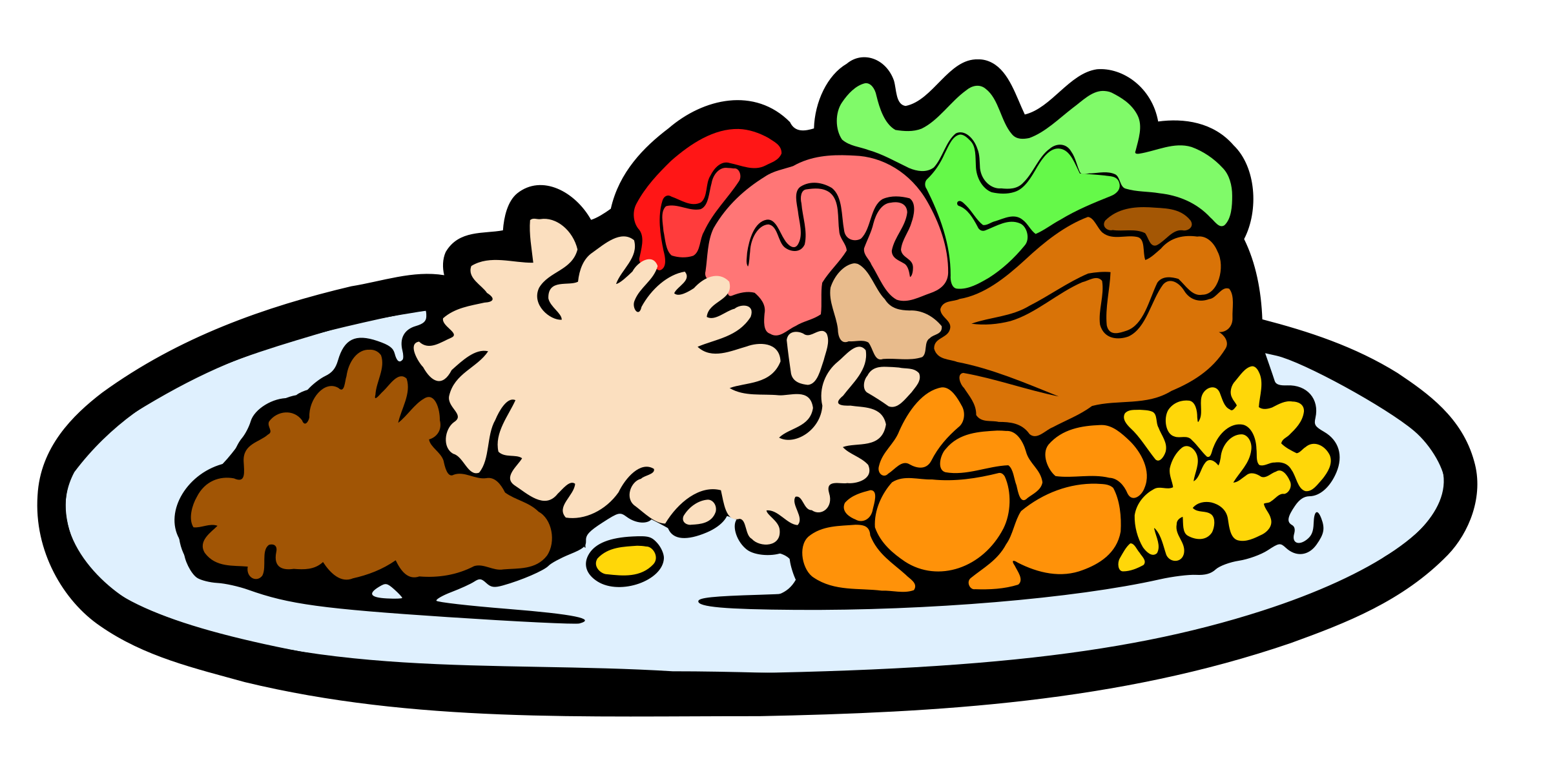 Turkey on a plate clipart vector transparent stock Dinner Plate Clipart at GetDrawings.com | Free for personal use ... vector transparent stock