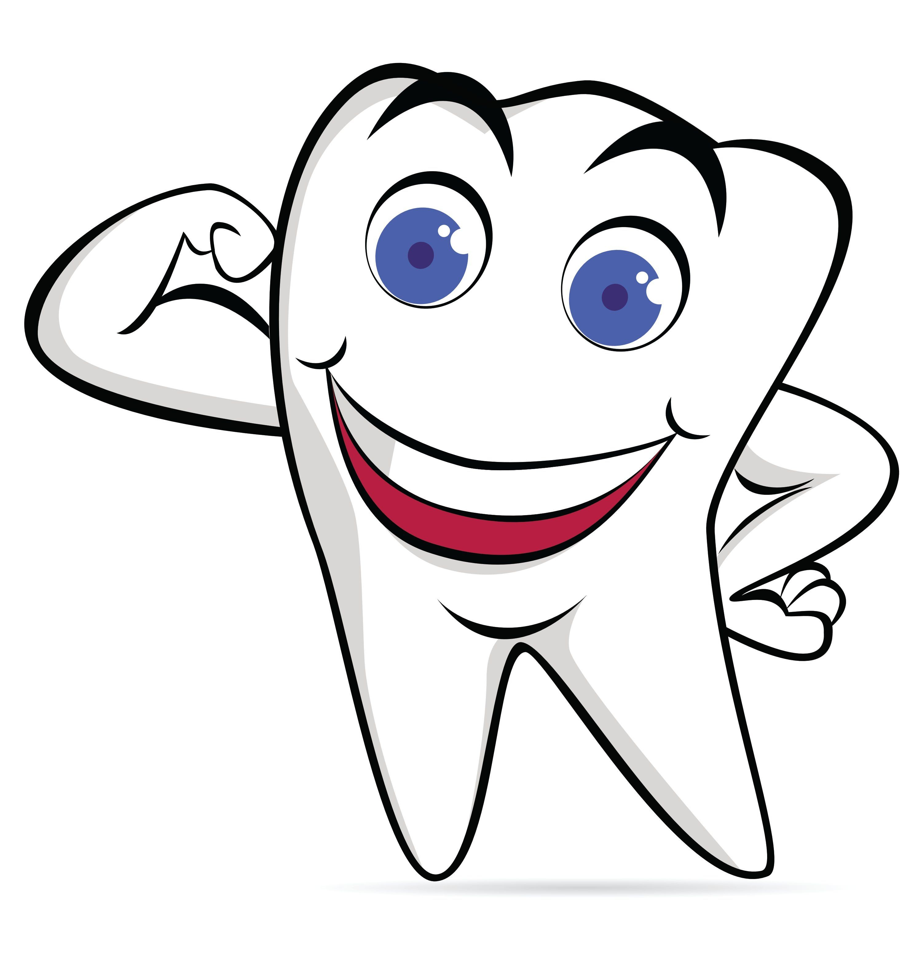 Cartoon tooth clipart free download In Clipart Cartoon Teeth Dental Strong Tooth 2 | Clip Art free download